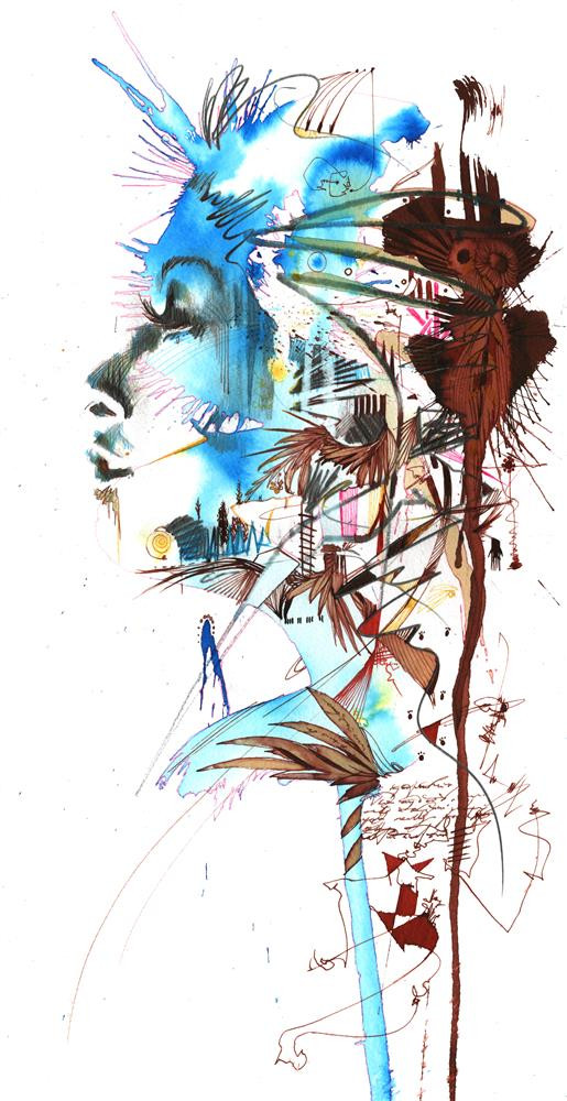 A little piece of peace and quiet by Carne Griffiths