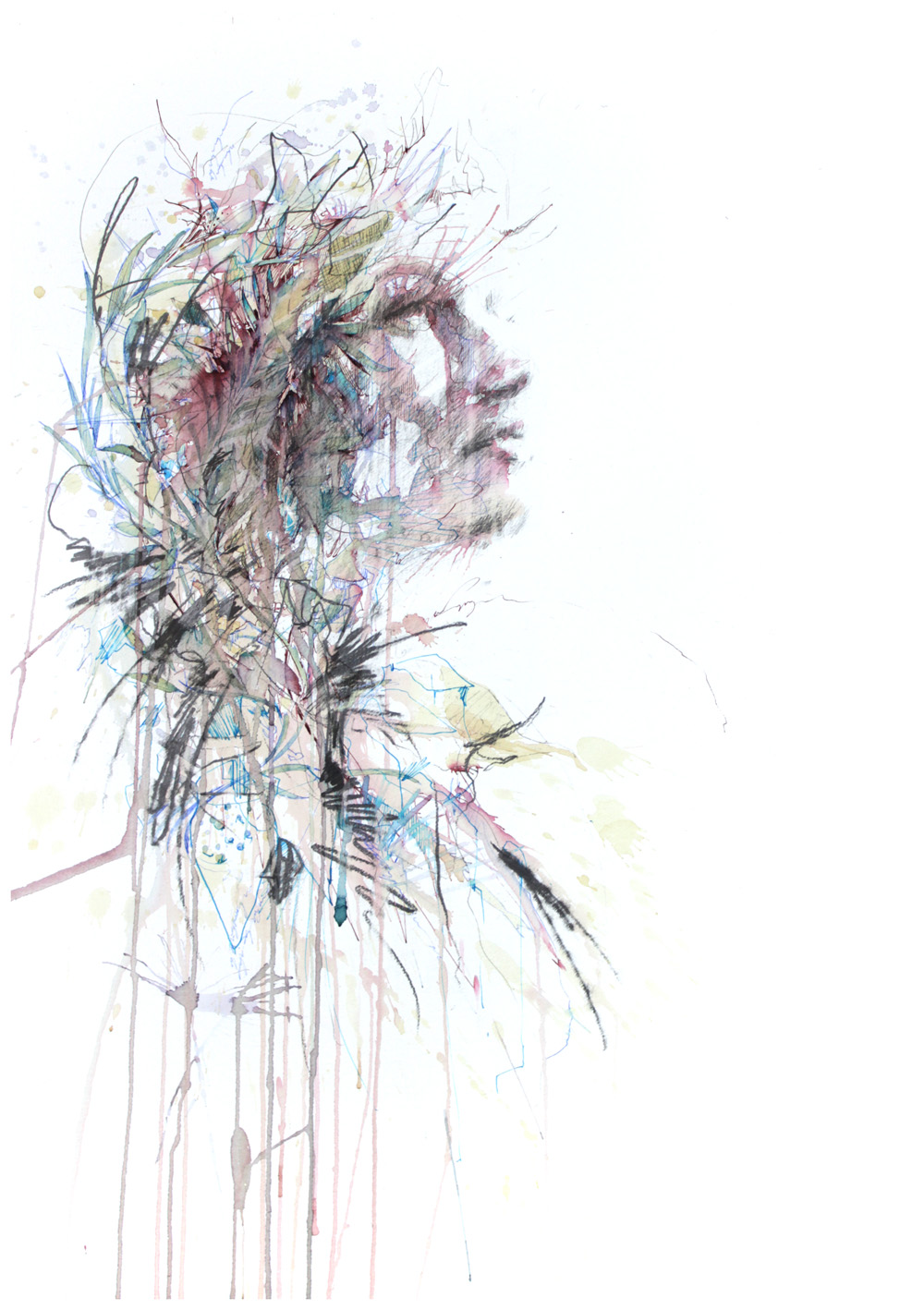 Waiting by Carne Griffiths