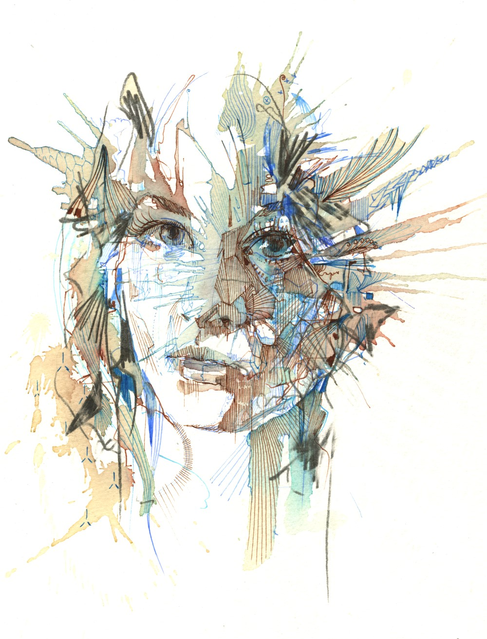 Stepping Back by Carne Griffiths