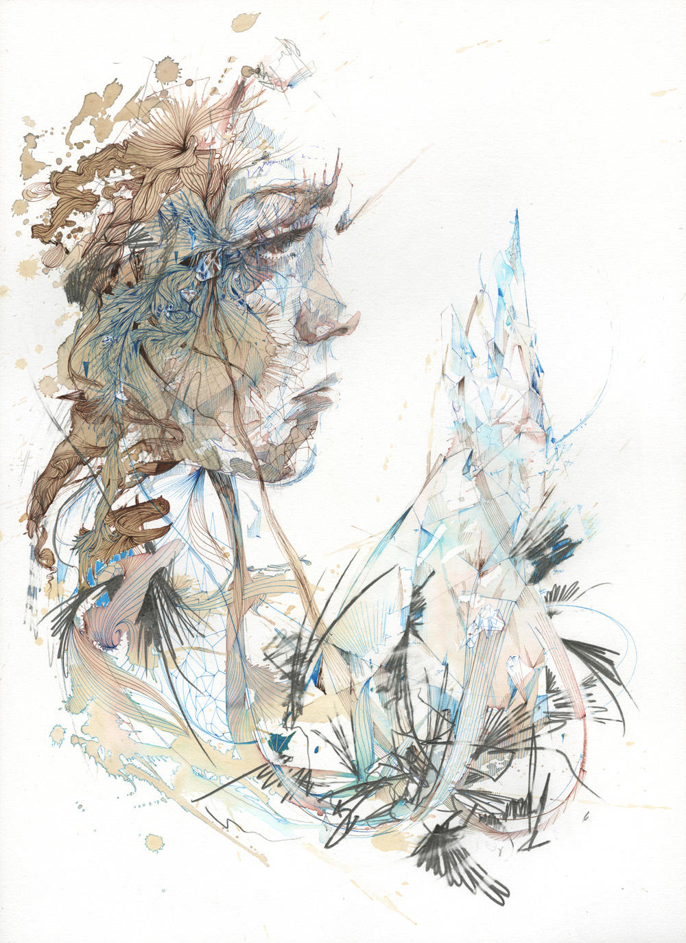 Refraction by Carne Griffiths