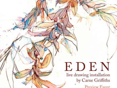 Eden Preview – Painting in Tea @ Debut Contemporary Sat 25th Feb