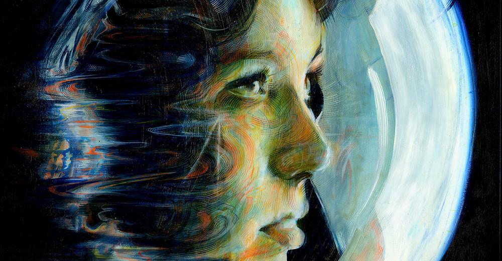 Anna Lee Fisher - Acrylic on Canvas
