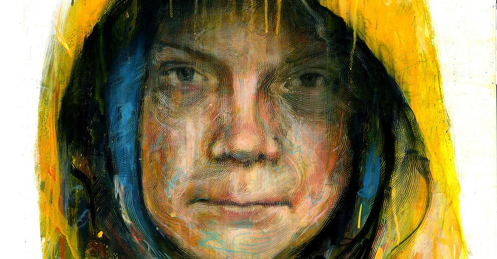 Greta Thunberg - Acrylic on canvas