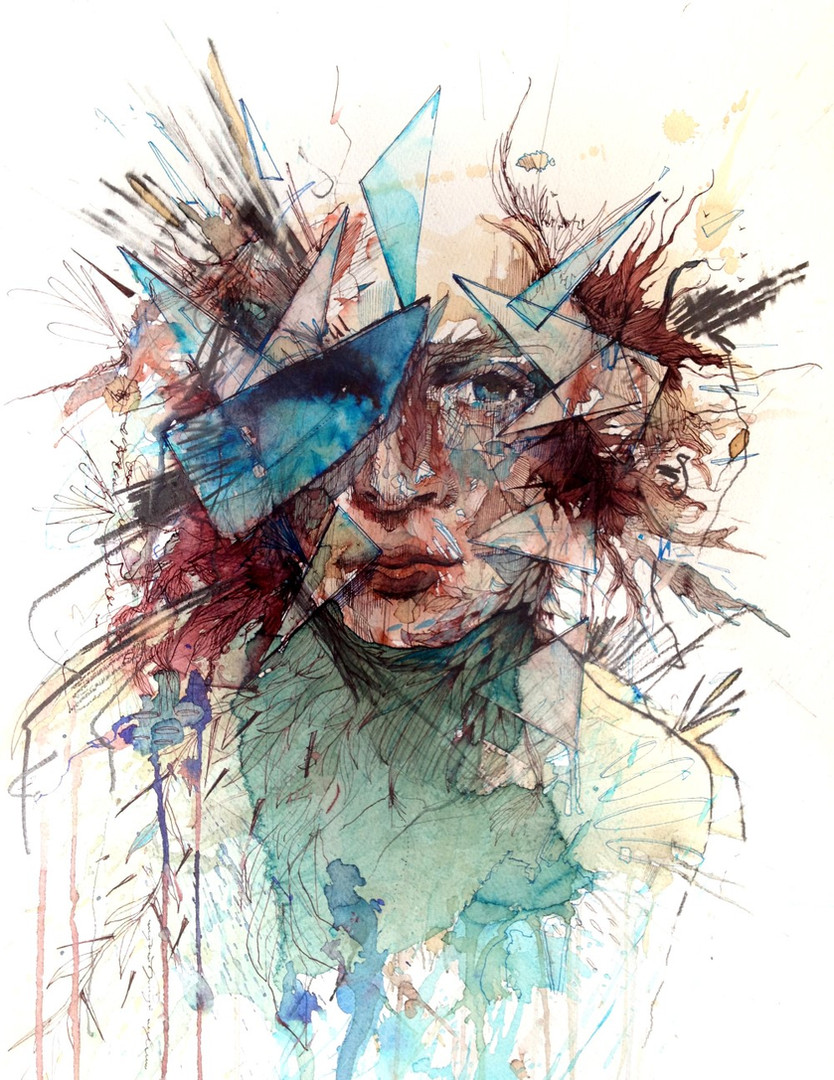 Breaking Through by Carne Griffiths