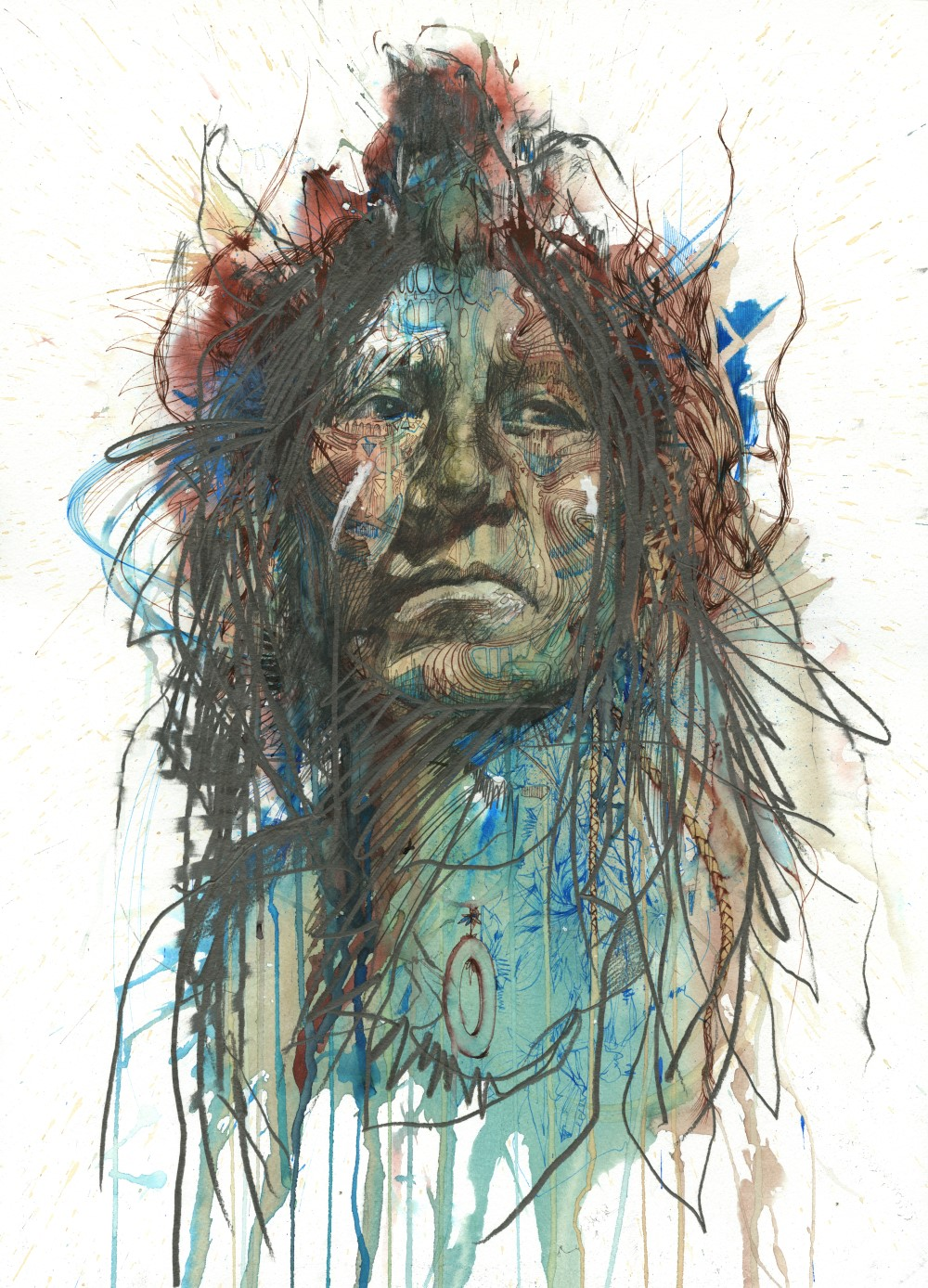 Wild Frontier by Carne Griffiths