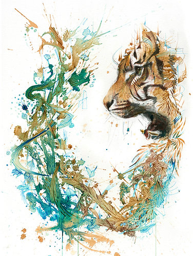 The Tiger Encounter - Print