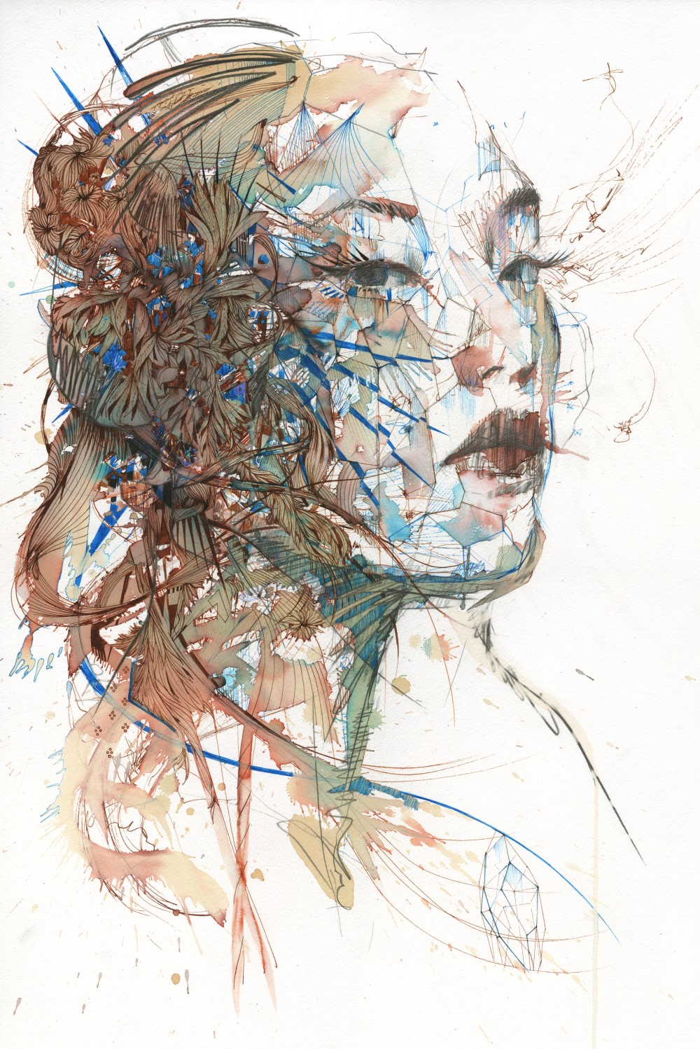 Invisible Lines by Carne Griffiths