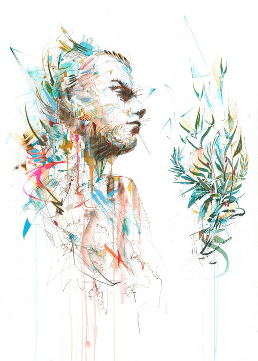 At one with Nature by Carne Griffiths