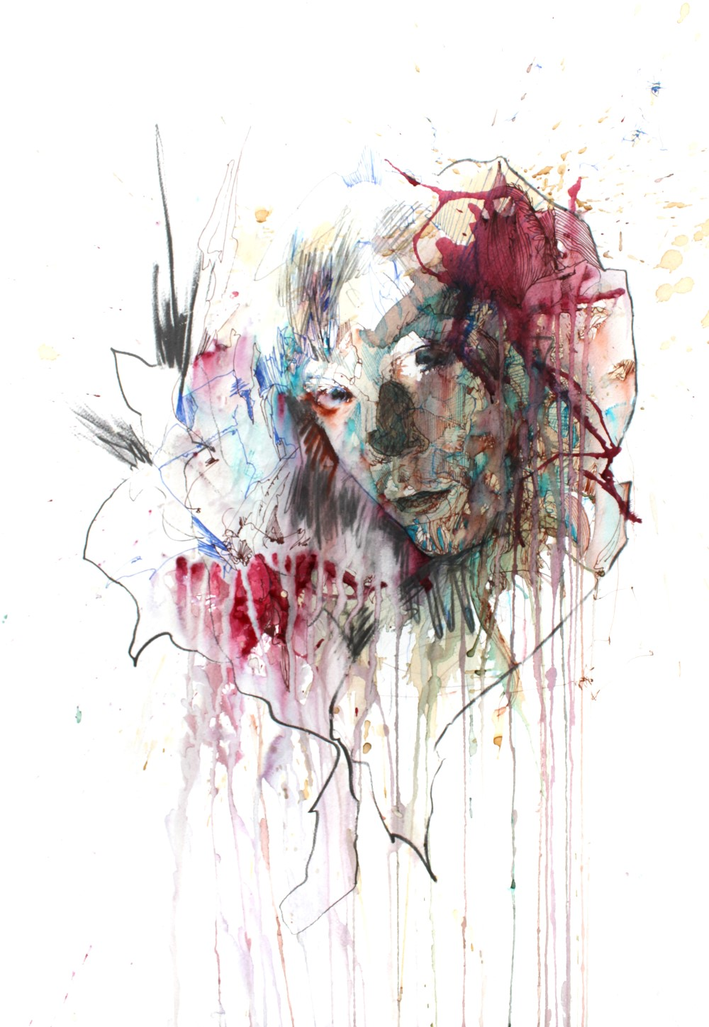 Somewhere by Carne Griffiths