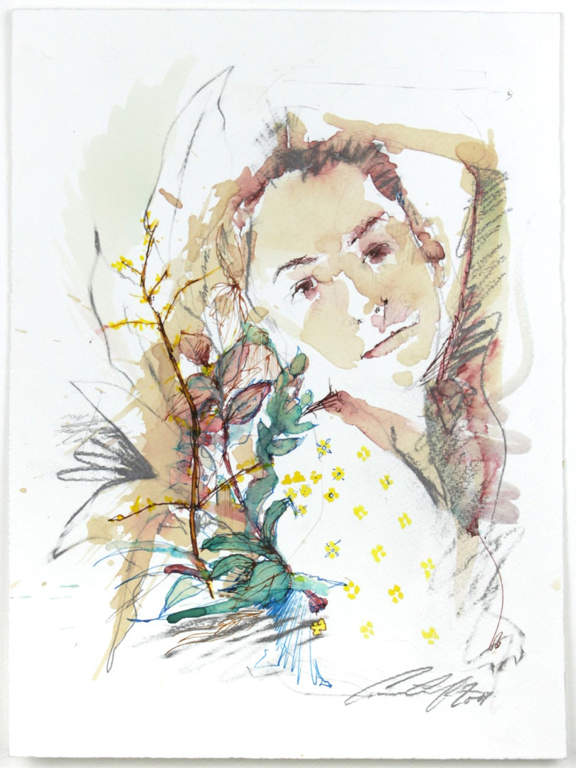 Budding by Carne Griffiths