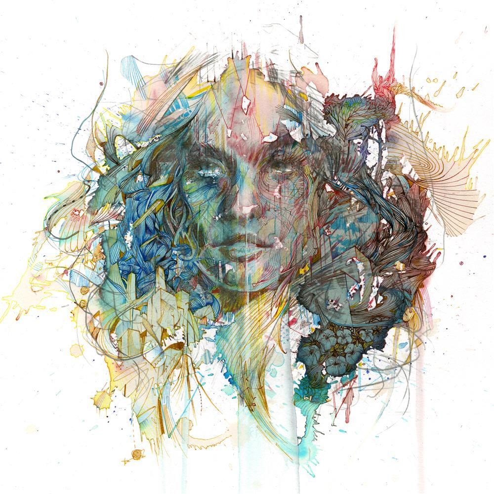 London Lines by Carne Griffiths