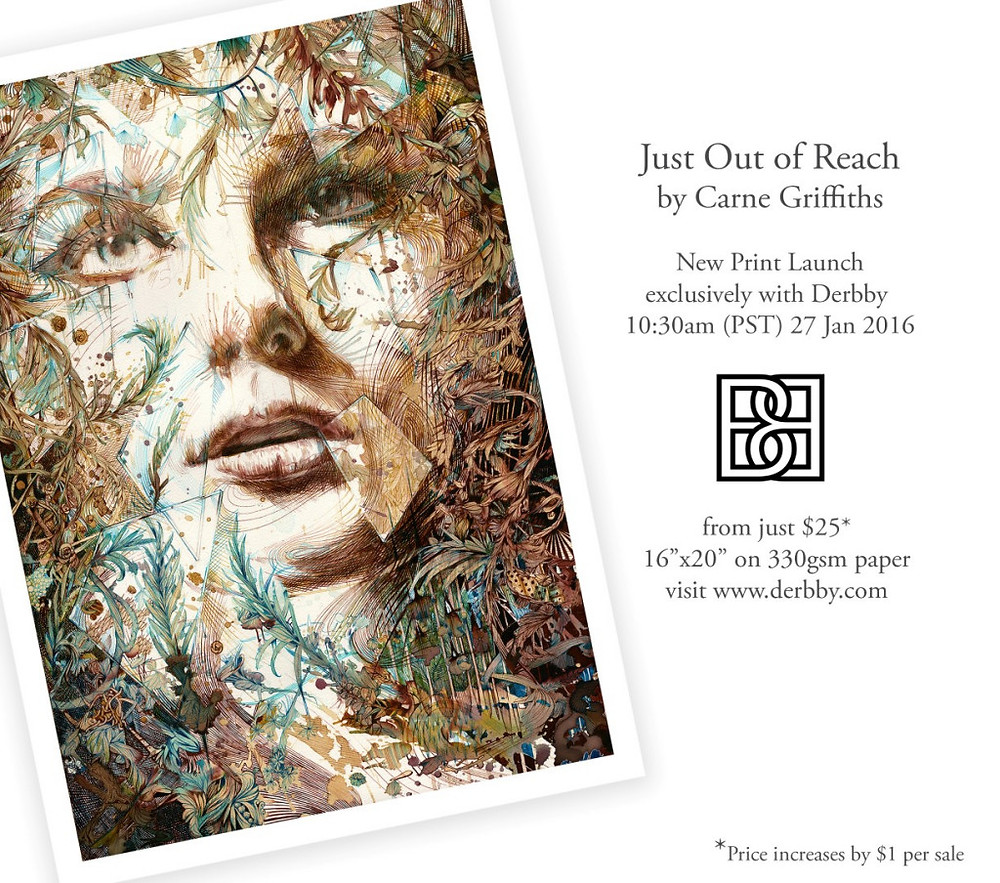 Just out of Reach by Carne Griffiths