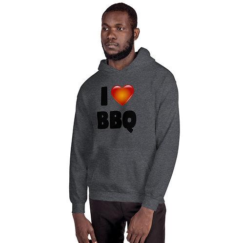 I Love BBQ Unisex Hoodie