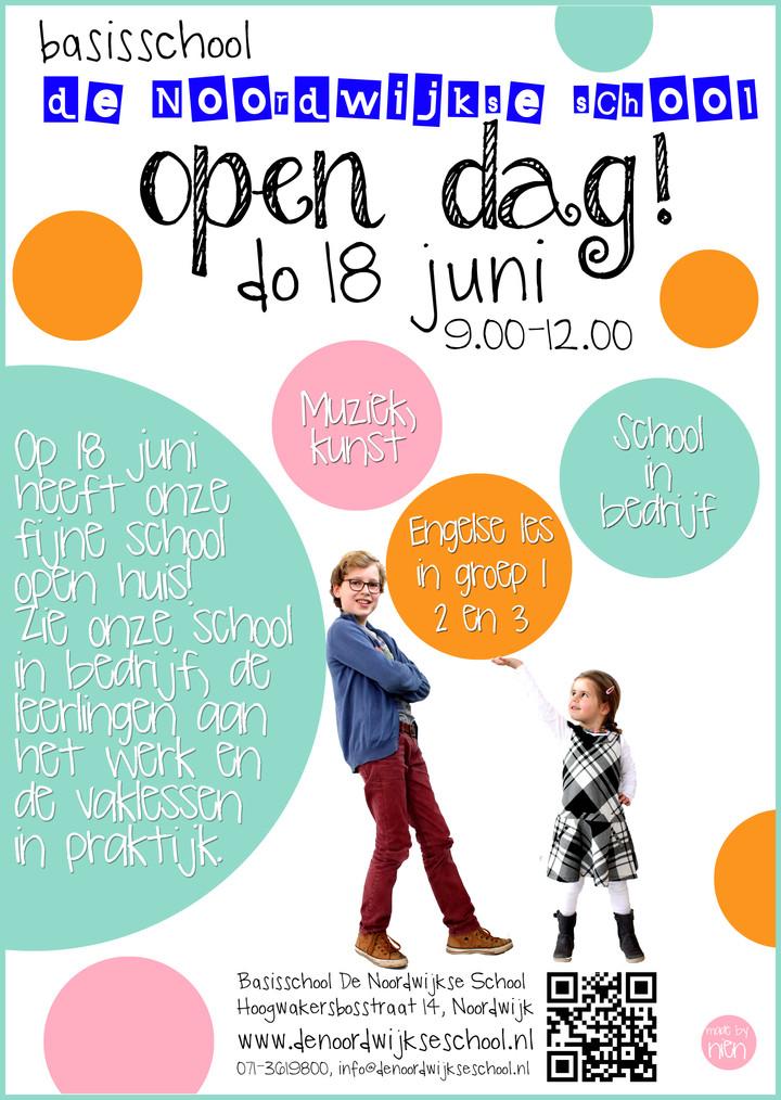Open dag! 18 juni van 9.00-12.00