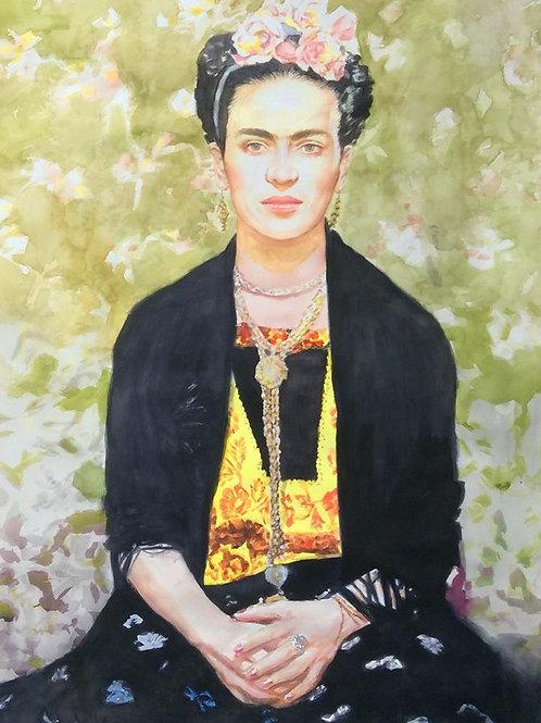 """Frida Watercolor/Paper 29""""X41"""""""