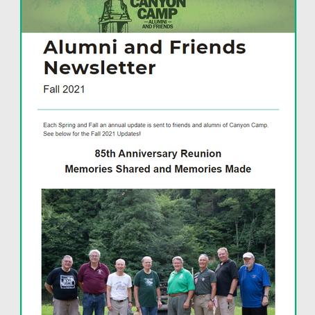 Alumni and Friend Newsletter: Fall 2021