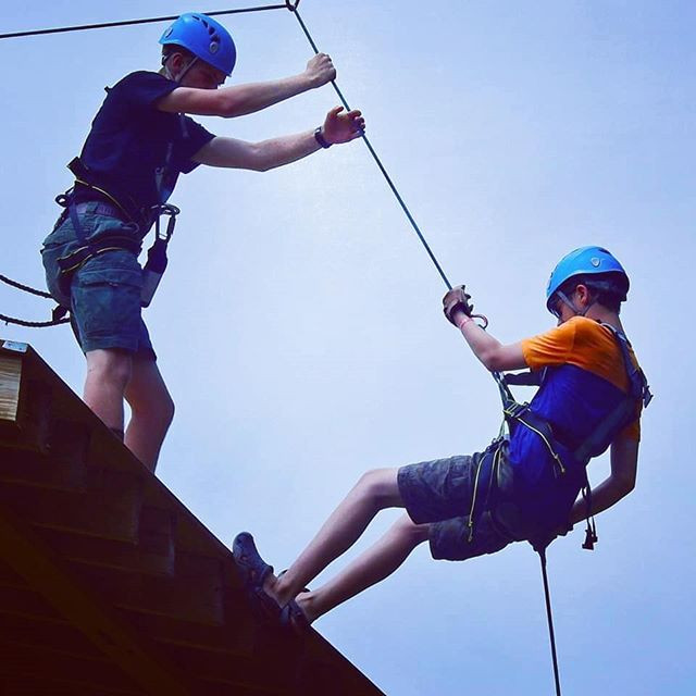 Rapelling at Camp