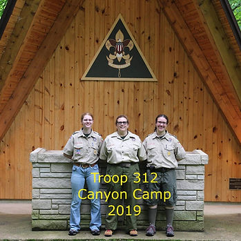 Girl Unit at Canyon Camp