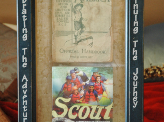 Framed Scout Handbooks