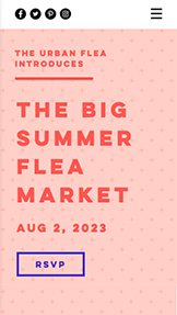 Events website templates – Flea Market
