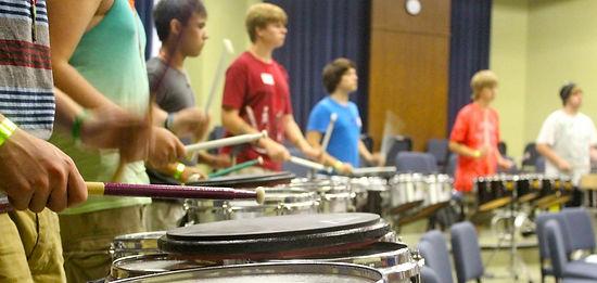 Drumline practice