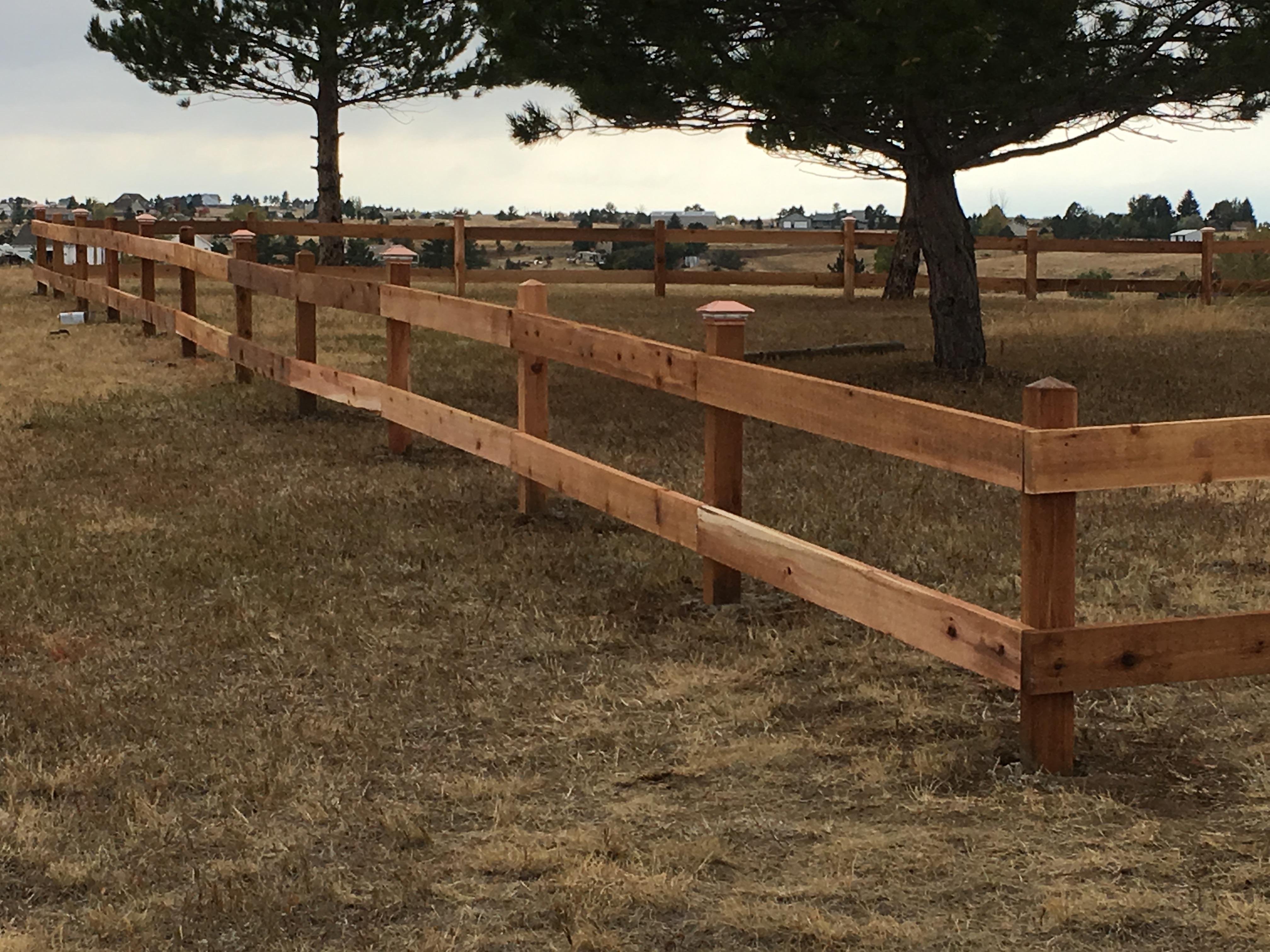 Parker Colorado Cedar Split Rail Fence