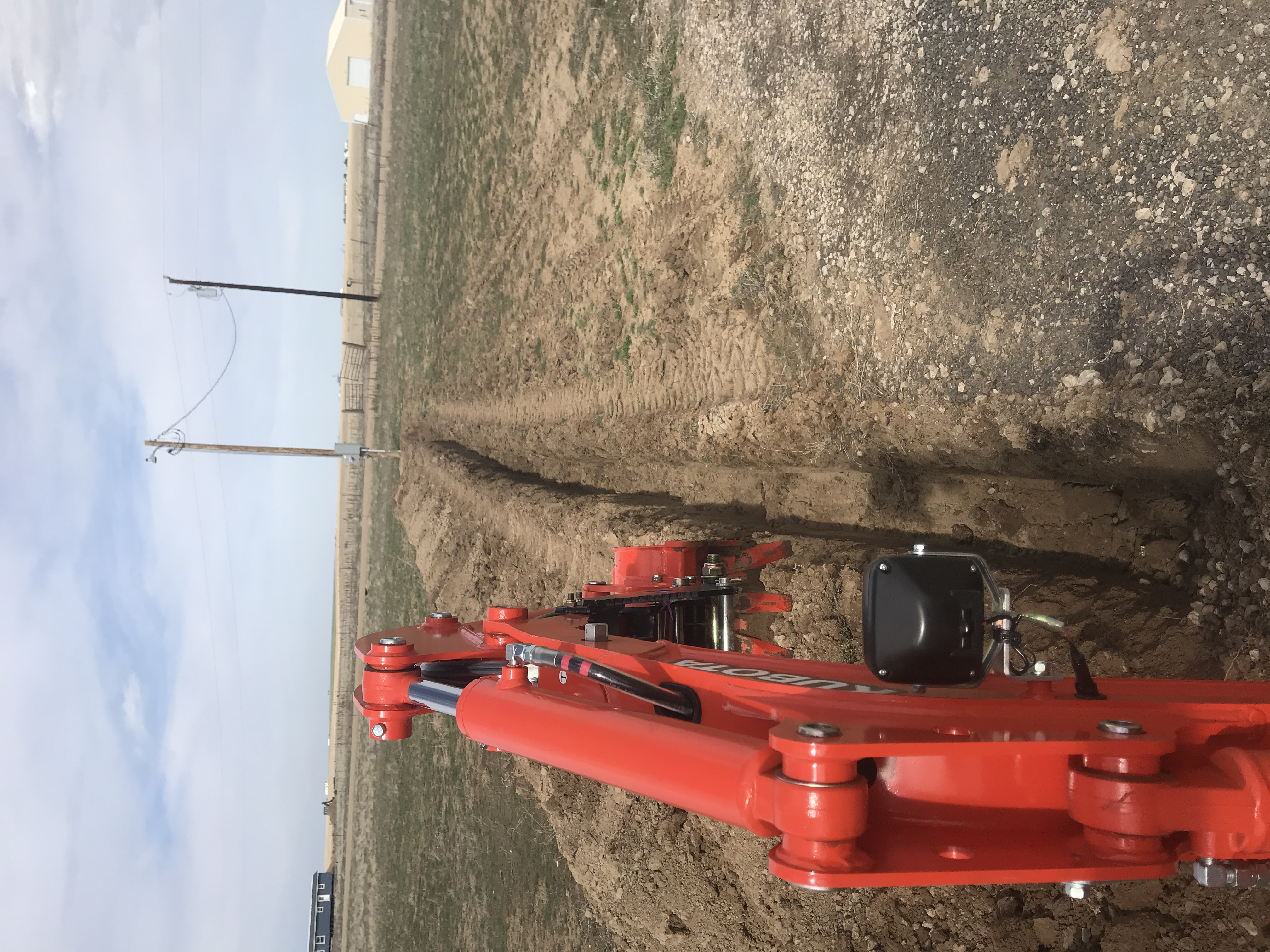 Trenching for power