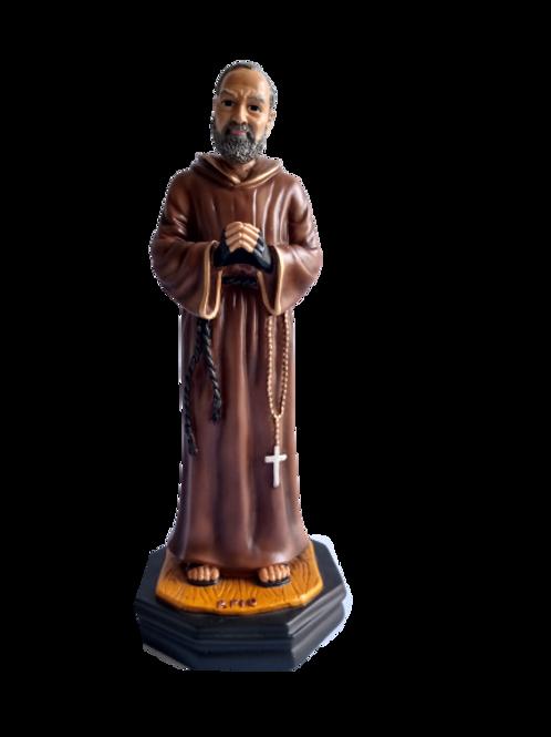 Imagen del Padre Pío en resina medida 30 cm