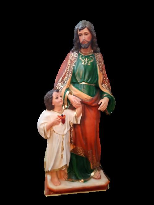 San José c/niño 1.30 cm resina