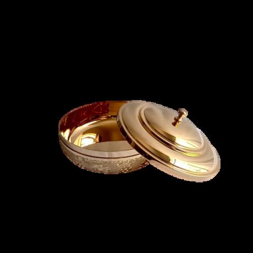 Panera/Cesto copón dorado grande