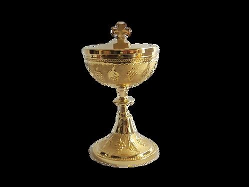 Copón dorado 17 cm combinado estilo francés