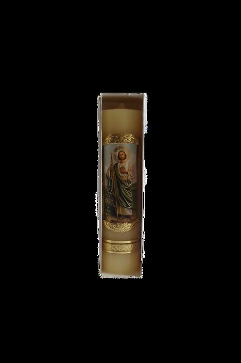 Cirio 20x25 en cera con imagen de San Judas