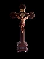 Cristo Resina decorado con medalla San B