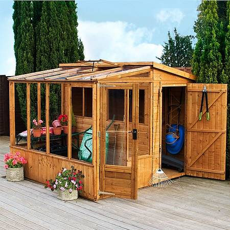 8x8ft greenhouse and shed