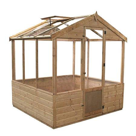 6x6ft Timber Green House