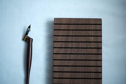Walnut Wood Multiple Card/Paper Holder (10 slots)