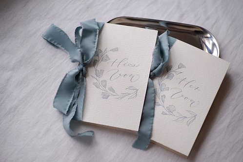 Gingko Themed Vow Book Set