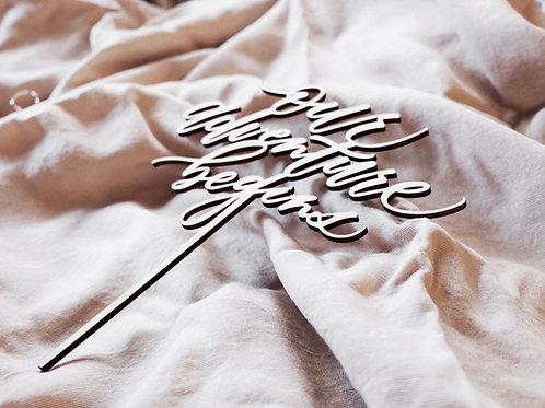 Ready-Made Laser Cut Wood Cake Toppers