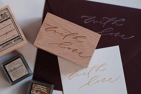 """""""with love"""" Wooden Stamp"""