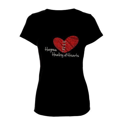 Haynes Healing of Hearts V-Neck Logo Tee