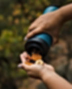 FLPSDE Dual Chamber water bottle. Water bottle with snack storage.