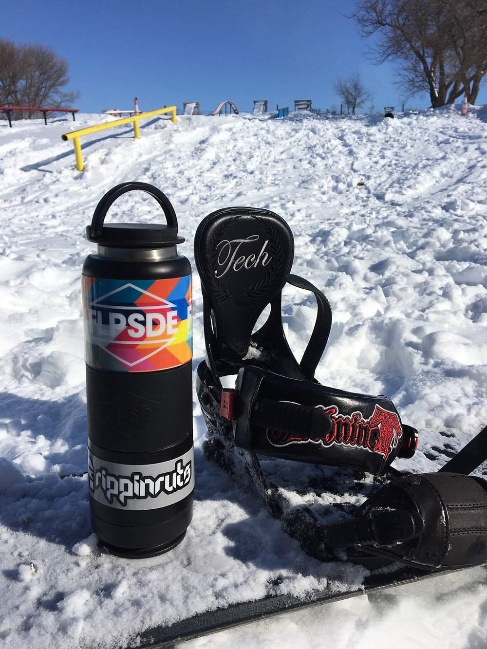 FLPSDE Dual Chamber Water Bottles. The best water bottles with storage for snacks and more.