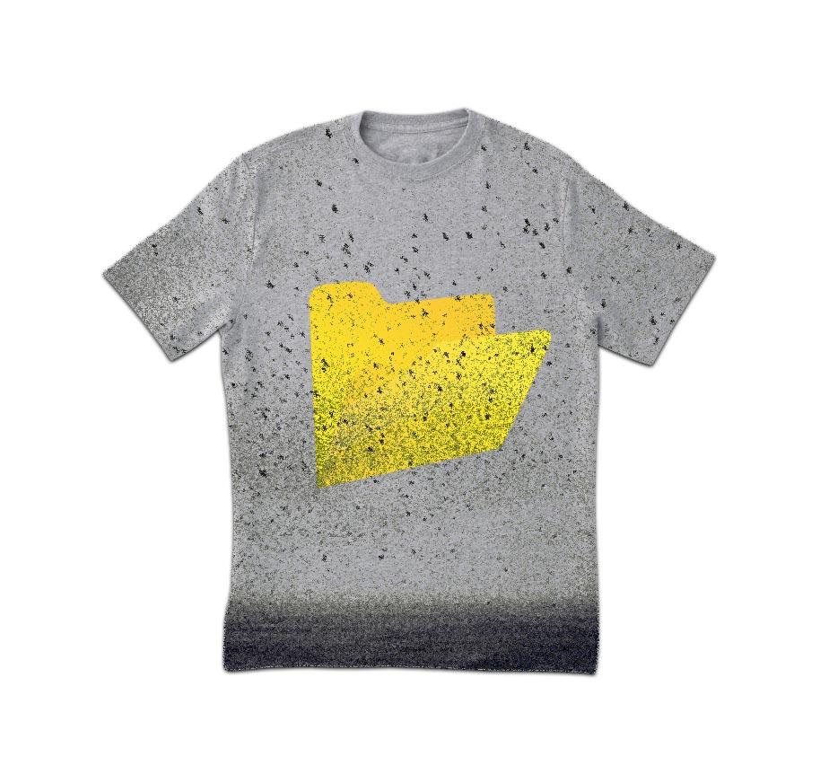 Grungy Spots Drucken T-Shirt