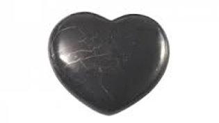 Coeur poli shungite