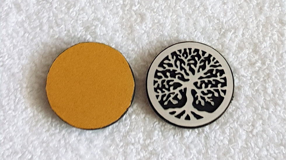 ARBRE DE VIE couleur argent pastille adhésive 2.5/3cm téléphone, IPAD