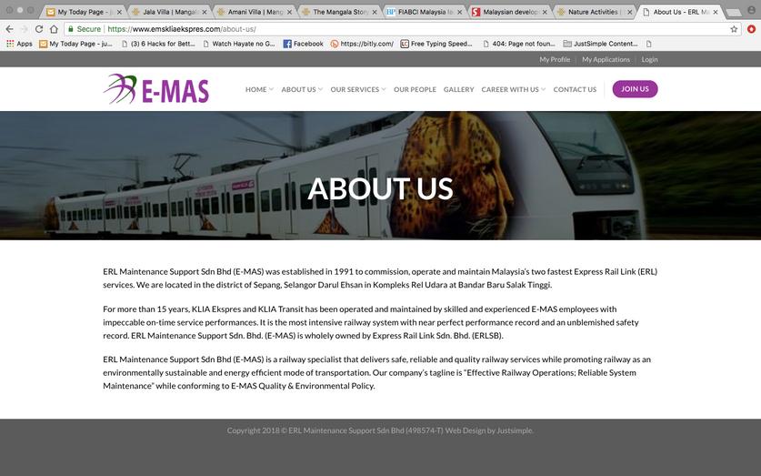 E Mas Erl Maintenance Support Sdn Bhd Beatrice S Portfolio