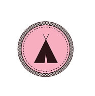 Tent Badge Pink