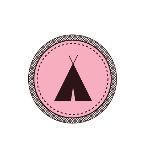 Tent Badge Pink