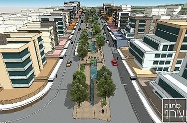מג'דל שמס הדמיית רחוב.jpg