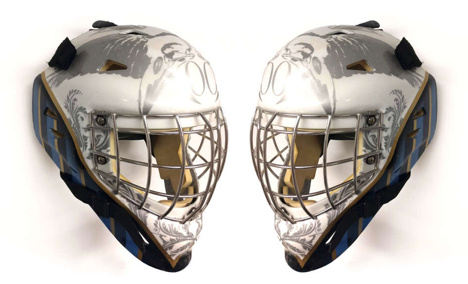 Crow themed hockey mask